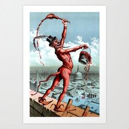 Devil Paints The Town Red Art Print
