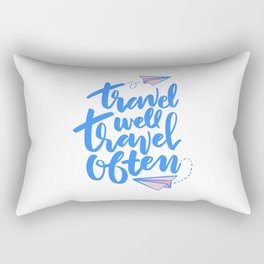 Travel Well Travel Often Rectangular Pillow