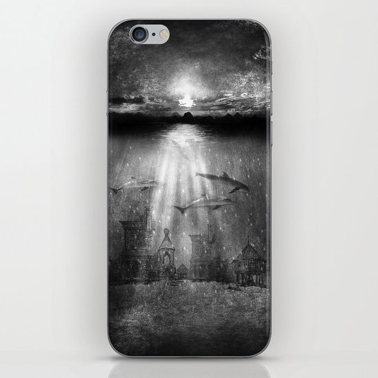 dolphins, civilization. iPhone & iPod Skin