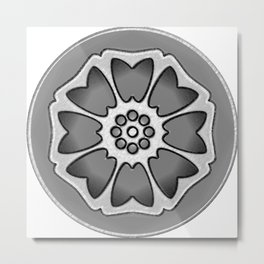 THE LOTUS TILE Metal Print