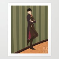 dishonored Art Prints featuring Emily Kaldwin by Altlas