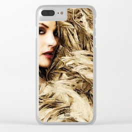 Mysterious Blonde Clear iPhone Case