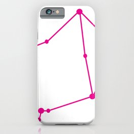 Libra (Magenta & White) iPhone Case