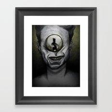 Keep it secret. Framed Art Print