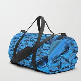 ORNATE  BLUE CRYSTAL GEMS PATTERN Duffle Bag