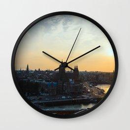 Amsterdam at Sunset Wall Clock