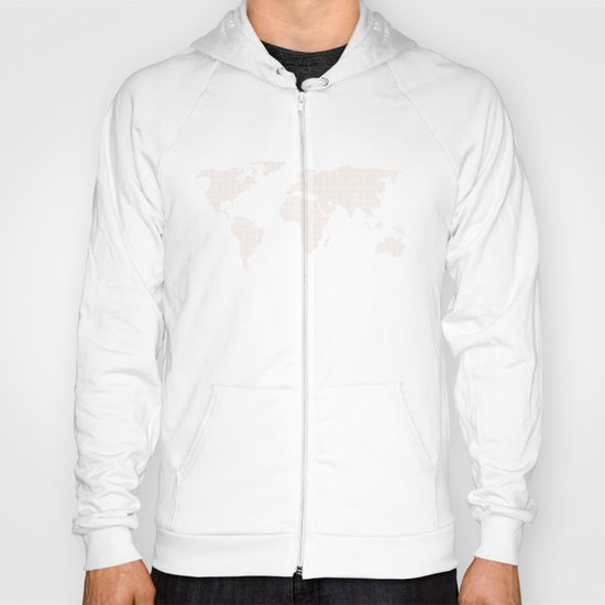 World Map Dots Rose Gold Bronze Copper Hoody