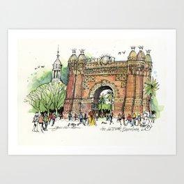 Arc de Triomf, Barcelona Art Print