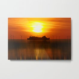 Belfast Ferry (Digital Art) Metal Print