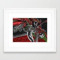 spawn Framed Art Prints featuring SPAWN by NICHOLAS PRICE ART PRINTS