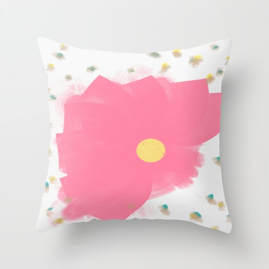Floral Drops Throw Pillow