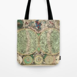 Vintage Celestial Map 1748 Tote Bag