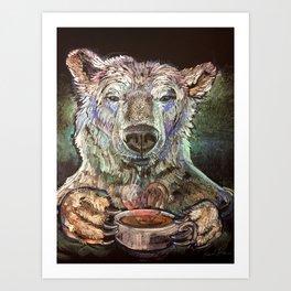Polar Bear Love Art Print
