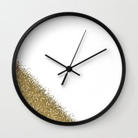 glitter Wall Clocks featuring Glitter by lescapricesdefilles