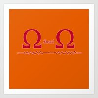 ohm Art Prints featuring Ohm Sweet Ohm by Blueshift