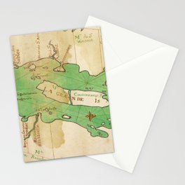 Vintage Map of Lake Champlain (1740) Stationery Cards