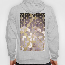 Shades Of Pink Cubes Pattern Hoody