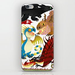 HTTYD- Dragons/Toothless and gang iPhone Skin