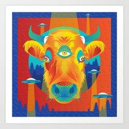 Beam me up, Bessie! Art Print