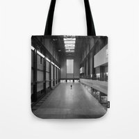 kris tate Tote Bags featuring Tate Modern by Evan Morris Cohen