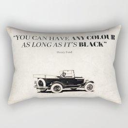 Paint it Black Rectangular Pillow