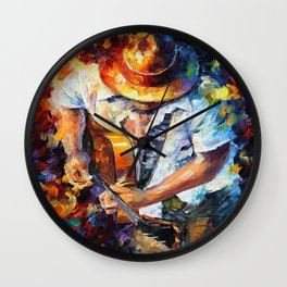 Music Love Guittar Wall Clock