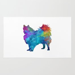 Pomeranian in watercolor Rug