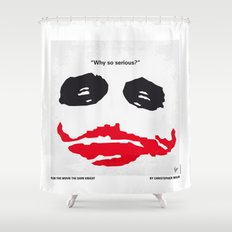 No245 My Dark minimal Knight movie poster Shower Curtain