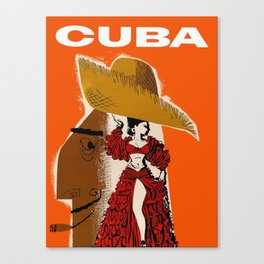 Vintage Travel Ad Cuba Canvas Print