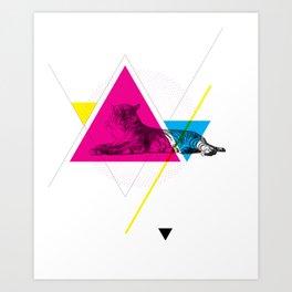 HYPSTER TYGER Art Print
