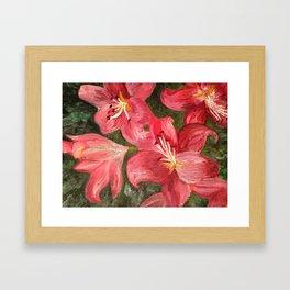 Pink Lilies Framed Art Print
