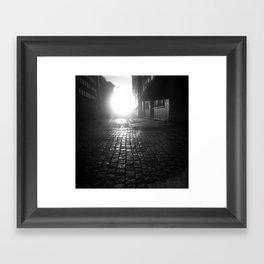 Late night, early morning Framed Art Print