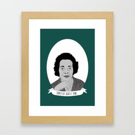 Coretta Scott King Illustrated Portrait Framed Art Print
