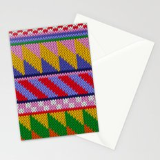 Knitted colorful abstract pattern Stationery Cards