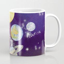 Planets Names Set Illustration Coffee Mug