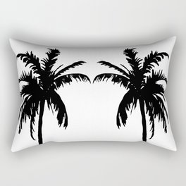 Palm Trees Black & White Rectangular Pillow