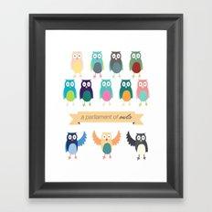 A Parliament of Owls Framed Art Print