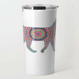 Cool Neon Cat Unique2 Travel Mug