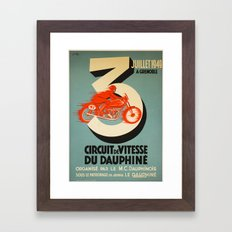 Vintage Poster Bike Racing Framed Art Print