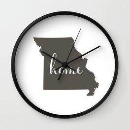 Missouri is Home Wall Clock