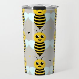Sweet Smiling Baby Bees Travel Mug