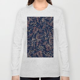 Simple Form Leaf Long Sleeve T-shirt