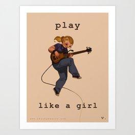 Play Like a Girl Art Print