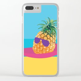 Hammock Hangs in Paradise Clear iPhone Case