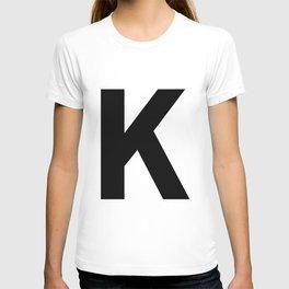 Letter K (Black & White) T-shirt