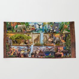 The Amazing Animal Kingdom Beach Towel