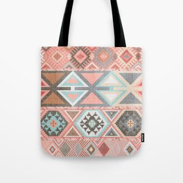 Aztec Artisan Tribal in Pink Tote Bag
