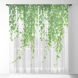Green Leaves Delight #1 #tropical #decor #art #society6 Sheer Curtain
