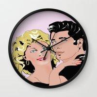 grease Wall Clocks featuring grease by Daria Derakhshan