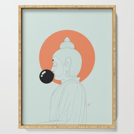 Buddha : Concentrate on the Void! Serving Tray